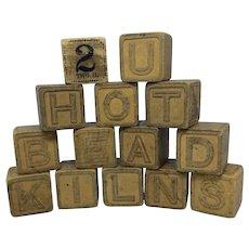 Wooden blocks for children