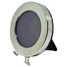 Sterling silver easel back picture frame