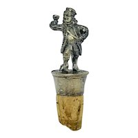 Vintage pewter figural bottle stopper - The Wine Merchant