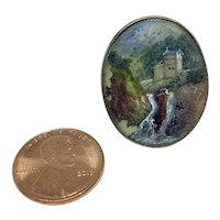 Antique miniature painting under glass