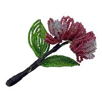 Art Deco beaded flower sprig