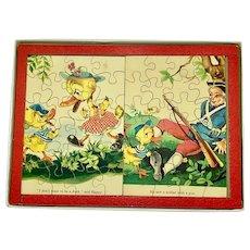 J.K. Straus juvenile wood jigsaw puzzles - ducks