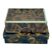 Pair of paper covered boxes - tortoise shell pattern
