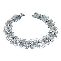 Vintage Handarbeit 800 silver filigree bracelet