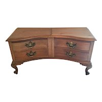 Jewelry dresser with brass drawer pulls