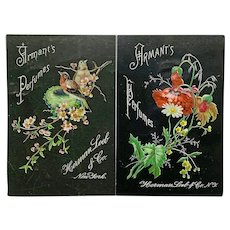 Pair of Victorian trade cards for Armant's Perfumes
