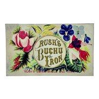 Victorian trade card for Rush's Buchu & Iron