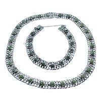 Vintage TNC Mexico sterling mesh necklace and bracelet set
