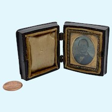 Gem tintype in hinged case