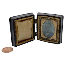 Gem tintype in hinged case