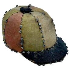 Jockey hat shaped figural pin cushion