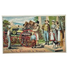 Trade card for Wheeler & Wilson sewing machine