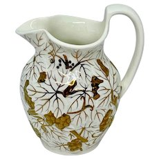 Wedgwood Etruria pitcher with copper luster