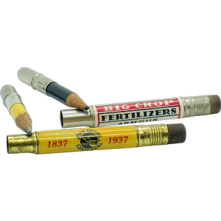 Vintage Advertising Agricultural Bullet Pencils - John Deere and Armour's