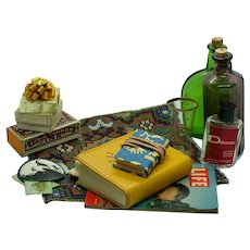 Collection of Vintage Miniature Doll and Dollhouse Accessories