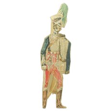 19th Century Watercolor Soldier Paper Doll