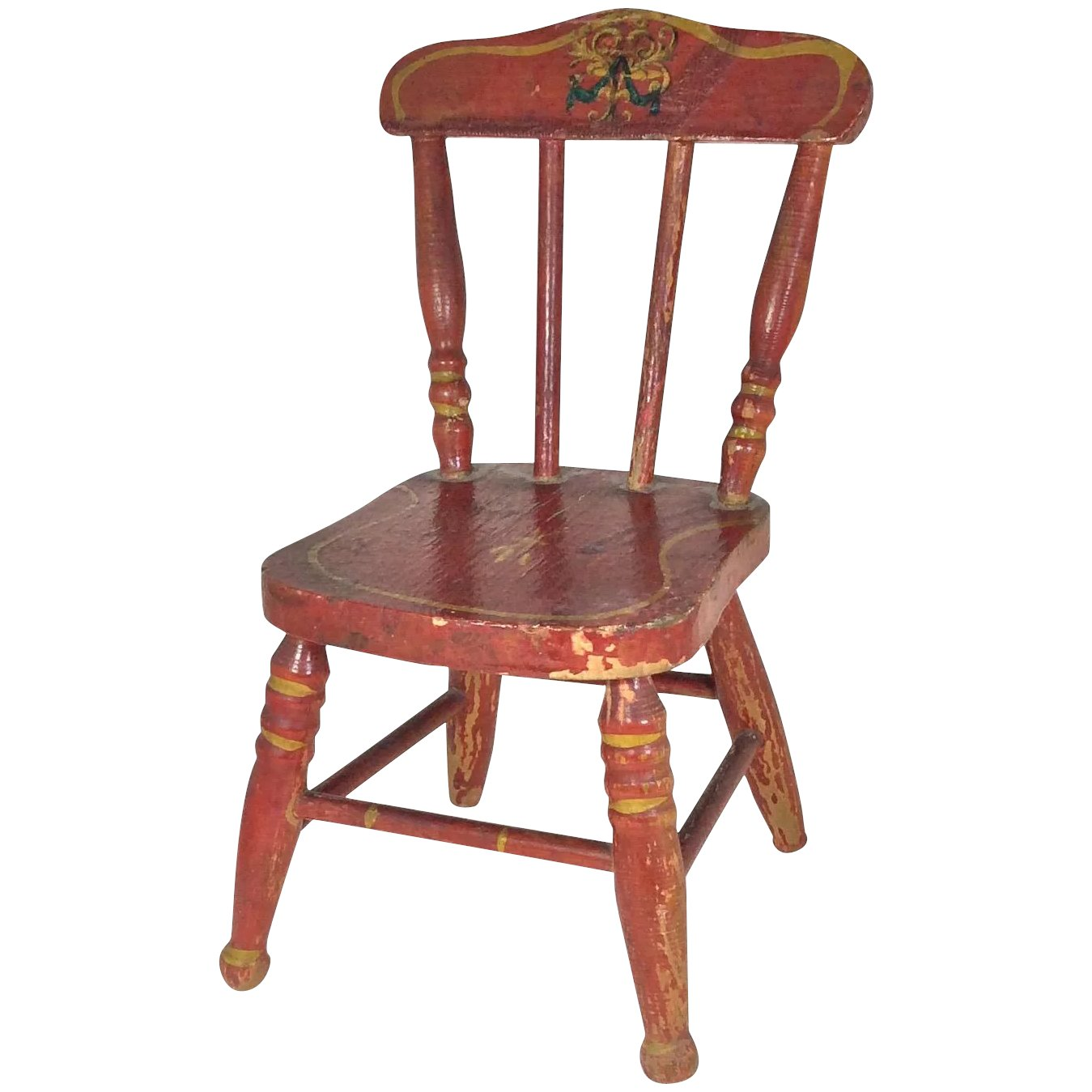 Doll Chair Red With Hand Painted Details Caldwell S