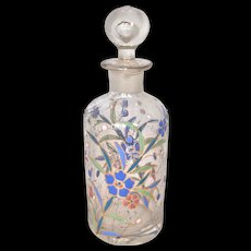 Enameled crystal bottle or decanter with matching stopper