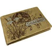 """Miniature book """"Snow Drops"""" c. 1885"""