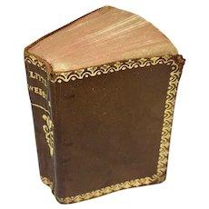 "Miniature vintage book ""Little Webster"" dictionary"