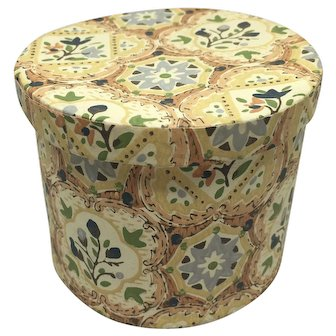 Doll size wallpaper covered hat box