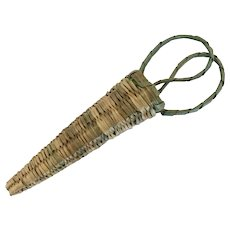 Vintage Native American basket for sewing scissors