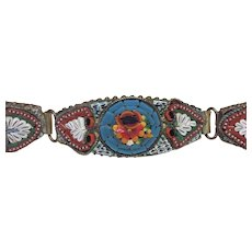 Vintage micromosaic panel bracelet
