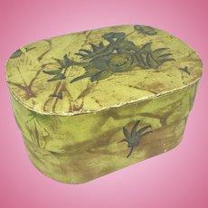 Minikin antique bandbox or dresser box