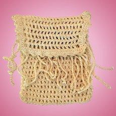 Vintage crochet doll purse