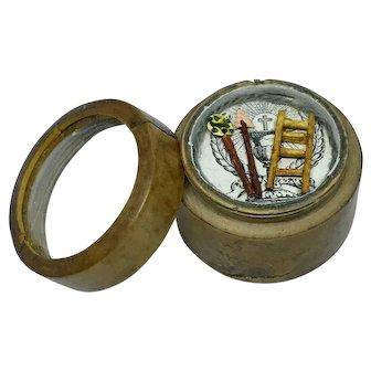 Miniature antique French reliquary or religious box