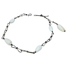 Seashell and wirework watch chain