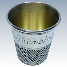 Only A Thimble Full sterling shot glass by Thomae & Son