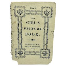 "Antique miniature pamphlet ""The Girl's Picture Book"""