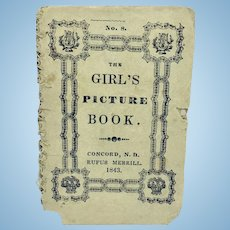 """Antique miniature pamphlet """"The Girl's Picture Book"""""""