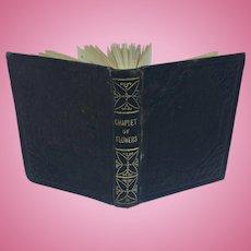 "Antique miniature book ""A Chaplet of Flowers"""