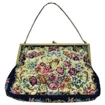 Vintage petit point purse by Maria Stransky, Vienna