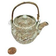 Miniature Banko Ware marble pattern teapot