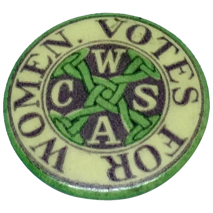 Votes For Women Celluloid Pinback Button For Suffragettes