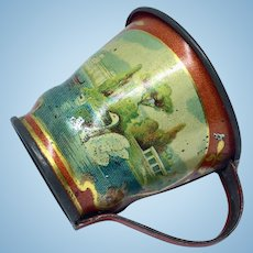 Toy tin lithography cup