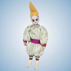 All original mignonette with silk circus clown jester costume