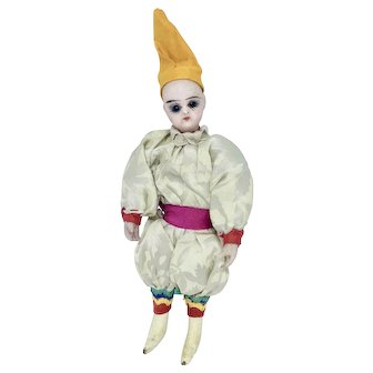 All original mignonette with silk circus clown jester costume