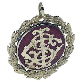 14K gold and enamel academic medal - double sided