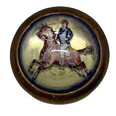 Cantering horse bridle rosette