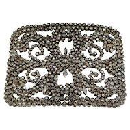 Cut steel buckle brooch