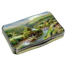 George V silver gilt and enamel box by HC Freeman Ltd, London 1928