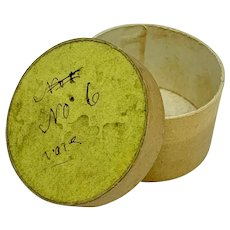 Antique paper box with handwritten notation - yellow