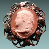 Cameo of Omphale with lion pelt