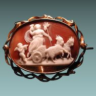 Heavy mourning cameo of Ariadne with goats