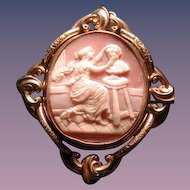 Huge Victorian cameo with locket back-sculpture