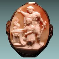 Large rare cameo of Emperor Romulus with his father